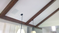Matching Wood Stain for Faux Beams