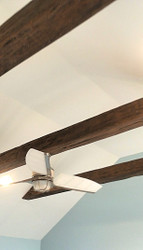 Hanging a Ceiling Fan from Suspended Faux Beams