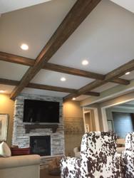 Replicating Load-Bearing Beams in a Living Room