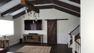 A Gabled Ceiling Makeover Done Fast with Quick Ship Beams