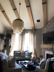 Rustic Beams and Mantel in the Living Room: Whole House Remodel Part 2