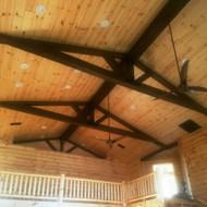 In Faux Wood We Truss: Exposed Trusses in a New Home