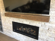 A Floating Fireplace Mantel Looks the Part