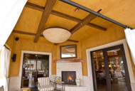 Southwest Style on a Budget with Exposed Beams & Corbels