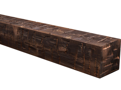 Heavy Hand Hewn Wood Mantel BANWM100070060CO