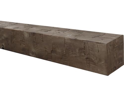 Traditional Hewn Wood Mantel BABWM080040072CH