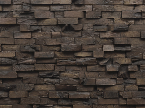 End Grain Wood Wall Panel
