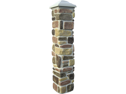 Tumbled Stone Column Sleeve - Narrow