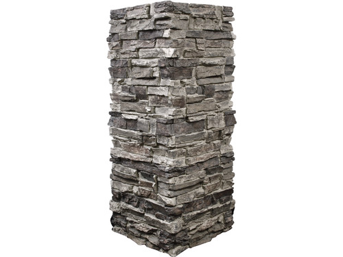 Colorado Dry Stack Stone Column Wrap