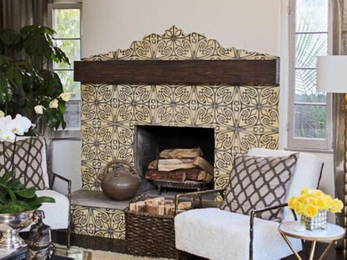 Heavy Sandblasted Faux Wood Mantels