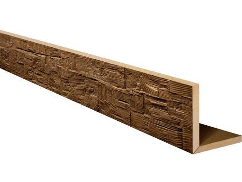 Rough Hewn Faux Wood L-Headers BBGLH105105120AWNNN