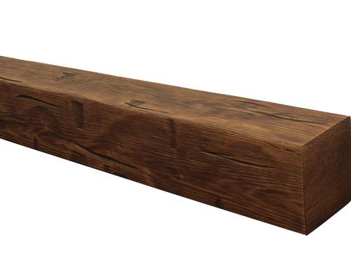 Hand Hewn Faux Wood Mantels BAWMA050060072DWN