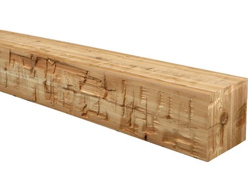 Heavy Hand Hewn Wood Mantel BANWM065065072WN