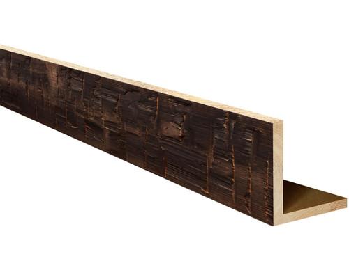 Heavy Hand Hewn Wood L-Header BANWL040040120CHTLNNO