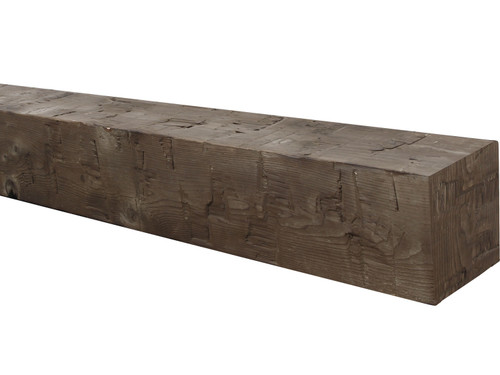 Traditional Hewn Wood Mantel BABWM080060060CO