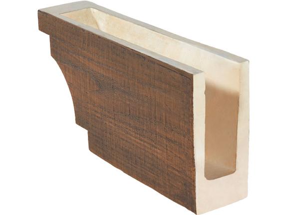 """Coarse Sawn Faux Wood Corbel - 4""""x8.75""""x18"""" - Crown Cove"""