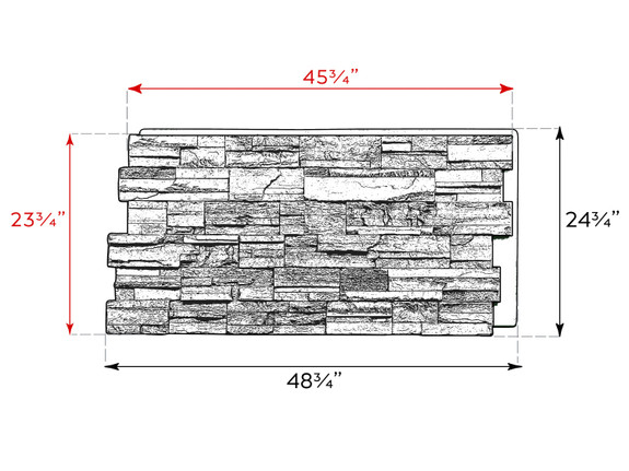Kentucky Dry Stack Stone Wall Panel