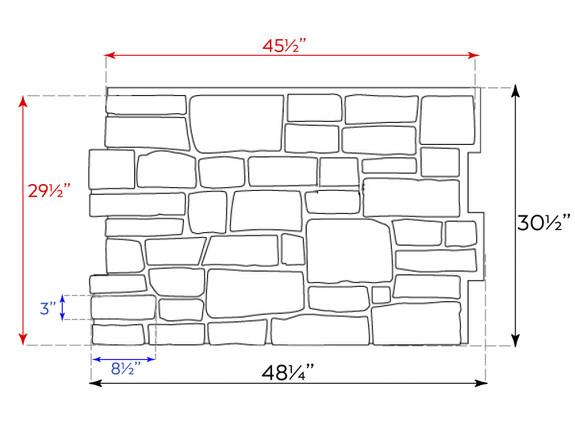 Lehigh Cobblestone Stone Wall Panel