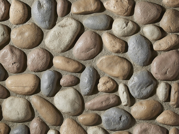 River Rock Wall Panel