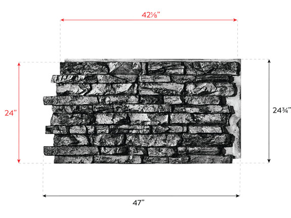 Montana Dry Stack Stone Wall Panel