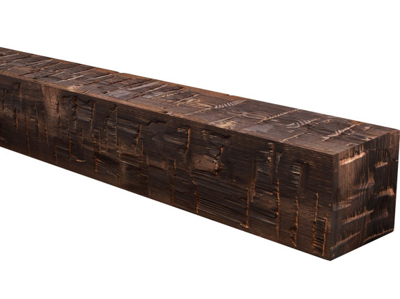 Heavy Hand Hewn Wood Mantel BANWM040040096CO