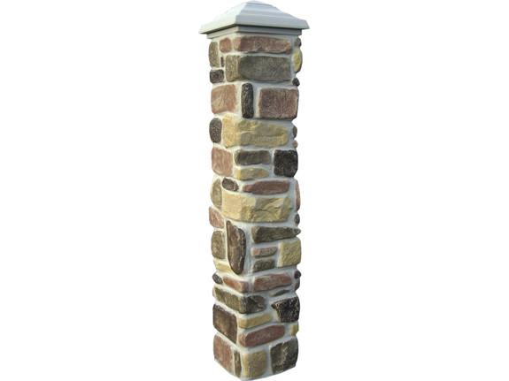 Tumbled Stone Column Sleeve - Narrow