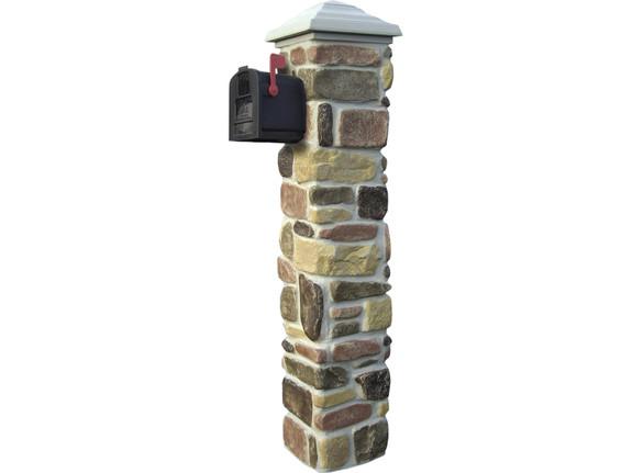 Tumbled Stone Mailbox Kit