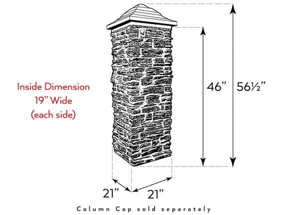 Ashford Ledgestone Column Sleeve - Wide