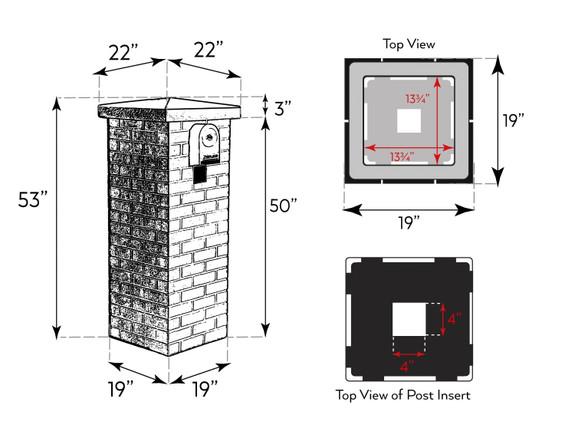 Carlton Traditional Brick Mailbox Kit