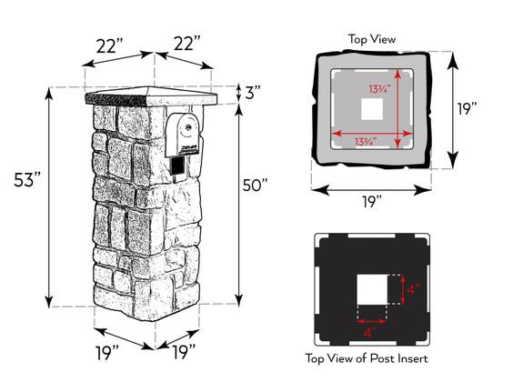 Carlton Hampton Cobblestone Mailbox Kit