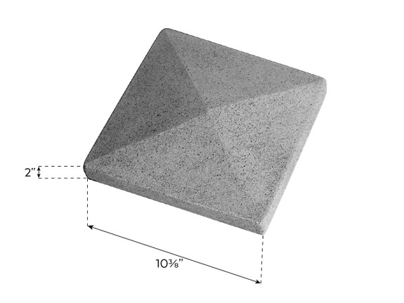 Colorado Dry Stack Stone Split Column Solid Cap - Narrow