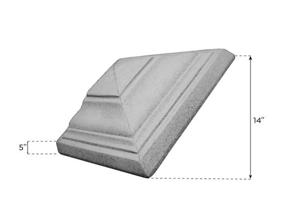 Cap for Tumbled Stone Column