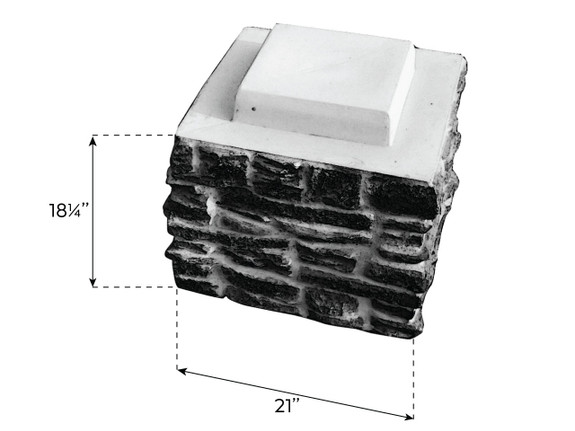 Ashford Ledgestone Column Sleeve Stack Section - Wide