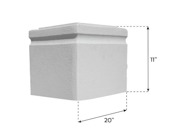 Carlton Base Pedestal - Wide