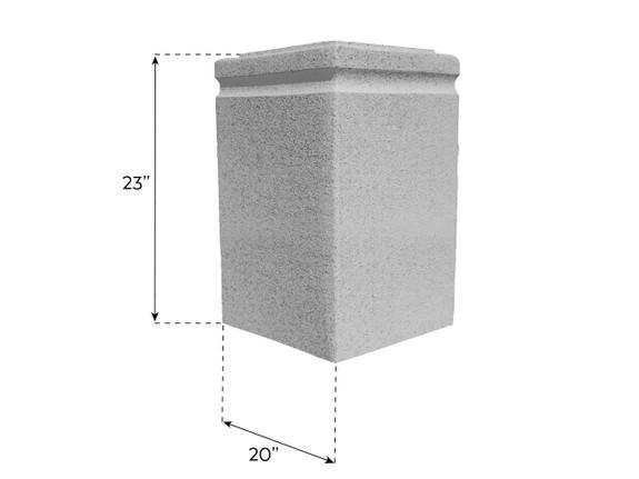 Carlton Base Pedestal - Wide and Tall