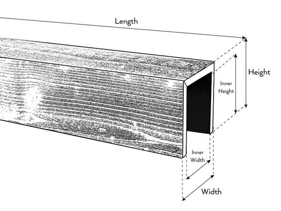 Resawn Faux Wood Beams