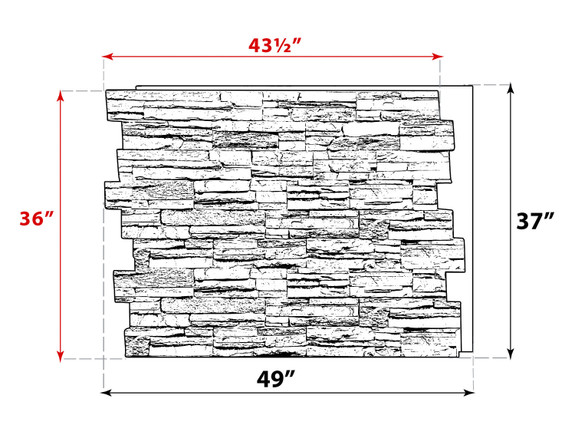Colorado Dry Stack Stone Wall Panel - Tall