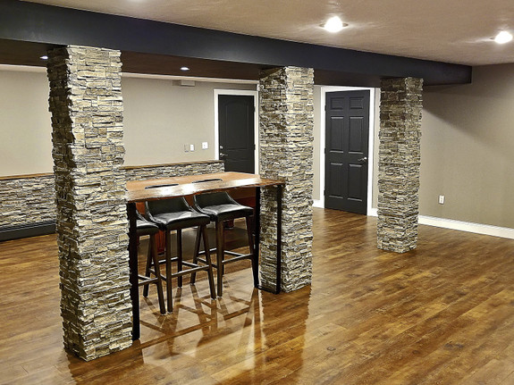 Colorado Dry Stack Stone Column Wrap - Tall