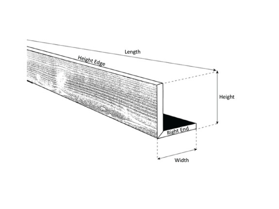 Wire Brushed Wood L-Header