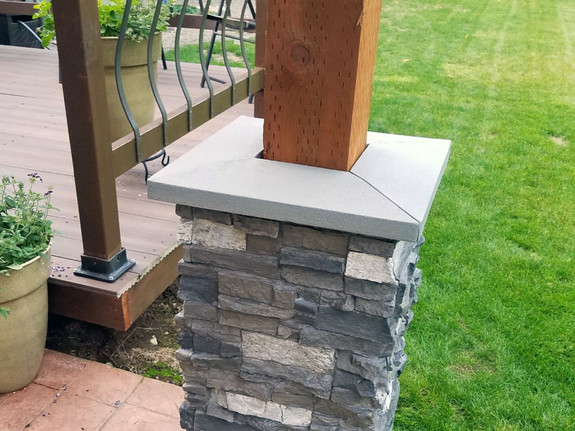 "Colorado Dry Stack Stone Split Column 4"" Post Cap - Narrow"
