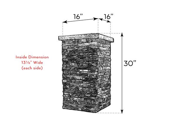 Windsor Column Wrap - Medium