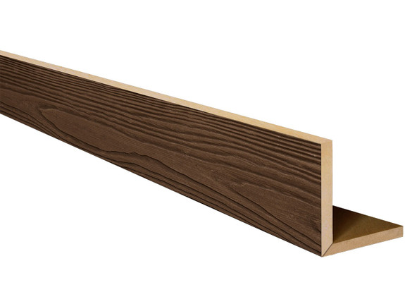 Heavy Sandblasted Faux Wood L-Headers BAQLH060070192GPNNN