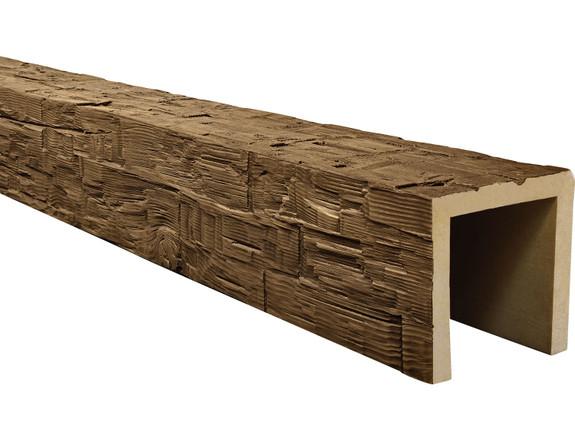 Rough Hewn Faux Wood Beams BBGBM080080120AW40NN