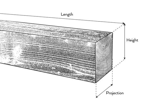 Traditional Hewn Wood Mantel BABWM120060072CH