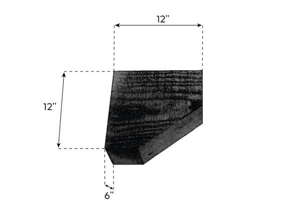 "Coarse Sawn Faux Wood Corbel - 6""x12""x12"" - Slant"