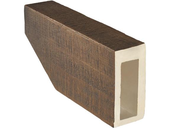 "Coarse Sawn Faux Wood Corbel - 4""x8""x16"" - Slant"
