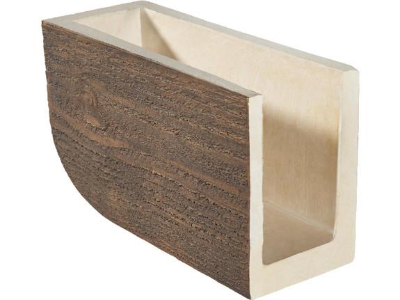 """Coarse Sawn Faux Wood Corbel - 7.5""""x11""""x20"""" - Bullnose"""