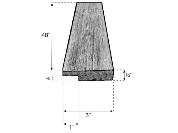 Chevron Faux Wood Trim
