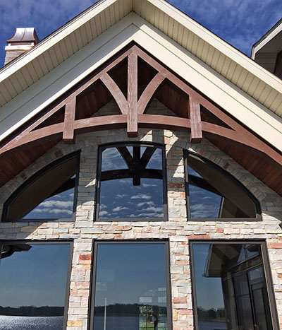 exposed trusses exterior