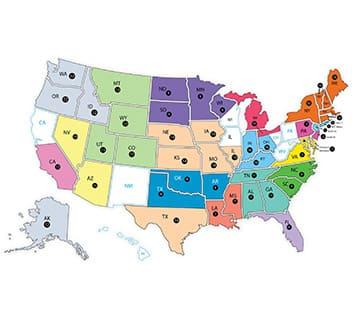 Map of U.S. Reps